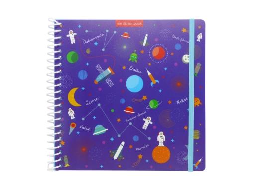 Sticker book enfant album pour autocollants Espace