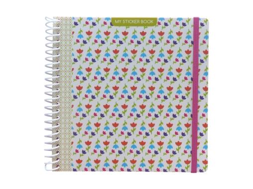 Sticker book enfant album pour autocollants Fleurs