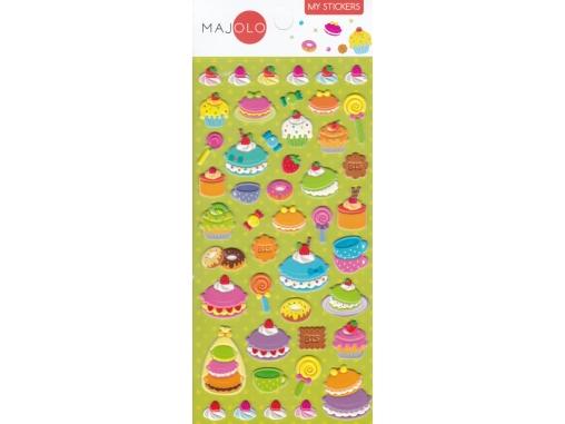 Stickers autocollants gommettes enfant food gâteaux macarons