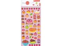 Stickers autocollants gommettes enfant food gâteaux pâtisseries