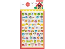 Stickers autocollants gommettes enfant kawaii têtes d'animaux