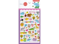 Stickers autocollants gommettes enfant kawaii animaux rigolos