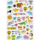 Stickers autocollants gommettes enfant kawaii animaux rigolos mignons