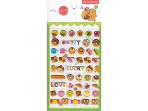 Stickers autocollants gommettes enfant kawaii food petits gâteaux