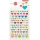 Stickers autocollants gommettes enfant kawaii cœurs mignons