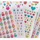 Stickers autocollants gommettes enfant kawaii étoiles cœurs poupées russes oursons mignons