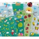 Stickers autocollants gommettes enfant insectes escargots