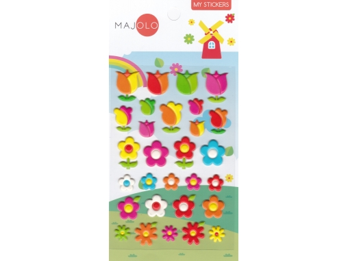 Stickers autocollants gommettes enfant fleurs et tulipes