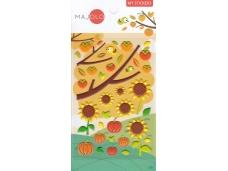 Stickers autocollants gommettes enfant fleurs tournesols et potirons