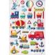 Stickers autocollants gommettes enfant véhicules chantier voitures camions bateaux hélico