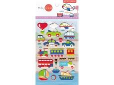 Stickers autocollants gommettes enfant véhicules voitures camions bateaux trains avions