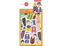 Stickers pour enfant personnage garçon à habiller orange