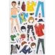 Stickers pour enfant personnage garçon à habiller vert