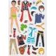 Stickers pour enfant personnage garçon à habiller bleu