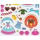 Stickers autocollants gommettes pour fille poupée à habiller
