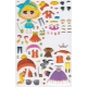 Autocollants pour enfant stickers gommettes personnage Minimi bleue à habiller