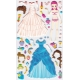 Stickers autocollants gommettes enfant princesse à habiller