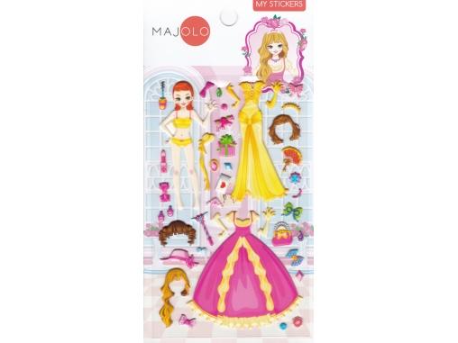 Stickers autocollants gommettes pour fille princesse à habiller