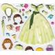 Autocollants fille stickers gommettes princesse à habiller avec robes et accessoires