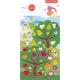 Stickers nature, autocollants, gommettes enfant arbres et fruits pomme poire