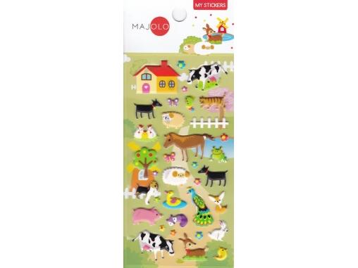 Autocollants stickers gommettes pour enfant animaux de la ferme