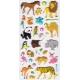Autocollants pour enfant stickers gommettes animaux sauvages lion rhino panda