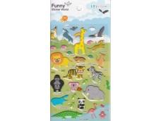 Stickers animaux de la jungle et de la forêt