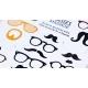 Stickers lunettes et moustaches
