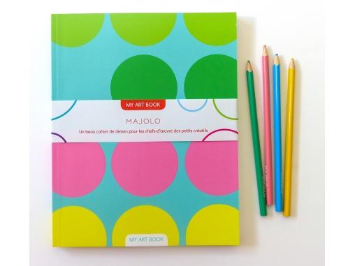 Cahier de dessin pastel