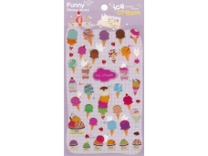 Stickers fantaisie glaces cornets
