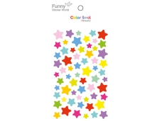 Gommettes fantaisie étoiles multicolores - 7 planches