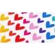 Gommettes fantaisie cœurs multicolores