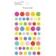 Gommettes fantaisie rondes multicolores - 6 planches