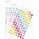 Gommettes fantaisie cœurs multicolores - 7 planches