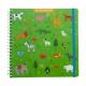 Sticker book enfant album pour autocollants animaux