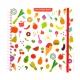 Sticker book enfant album pour autocollants gourmandises