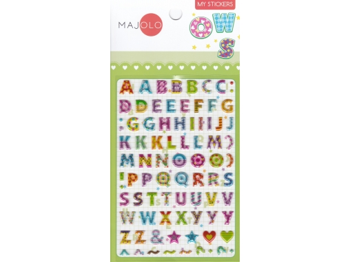 Lettres majuscules multicolores