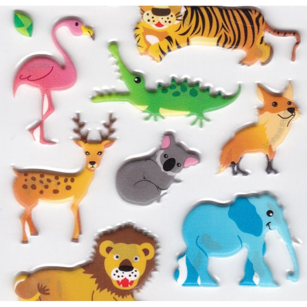 Autocollants animaux de la savane sticker book pour enfant - Felin de la savane ...